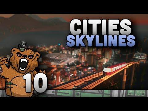 """Cities Skylines #10 """"Várias Novidades"""" - Mass Transit Expansão Gameplay Português PT-BR"""