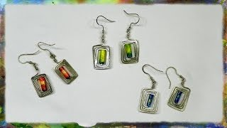 How to Construct Rectangular Earrings with Rice Paper Beads