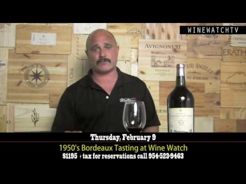 1950's Bordeaux Tasting at Wine Watch - click image for video