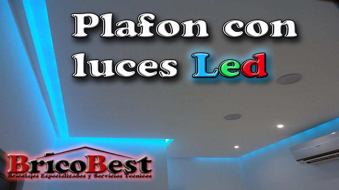 Como hacer plafon de tablaroca con luz led perimetral for Cielos falsos modernos