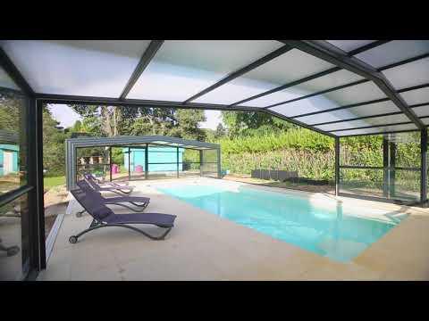 Abris de piscine haut aluminium - RENOVAL