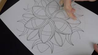 How to draw Crescents mandala - original pattern