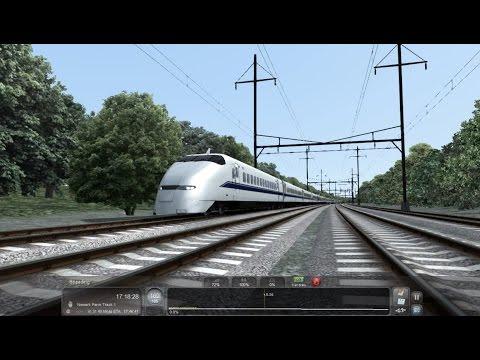 TS2016 HD: JR West 300 Series Shinkansen Bullet Train 270 km/h (170 MPH) Fun On The NEC