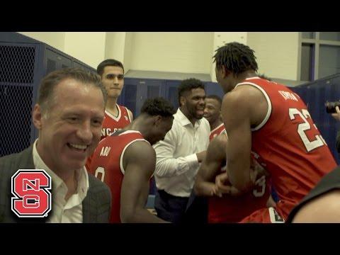 Locker Room Video: NC State Celebrates Win At Duke
