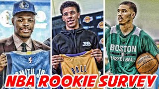 THE ROOKIE WHO WILL HAVE THE BEST CAREER! LONZO BALL OR JAYSON TATUM?! | NBA Rookie Survey
