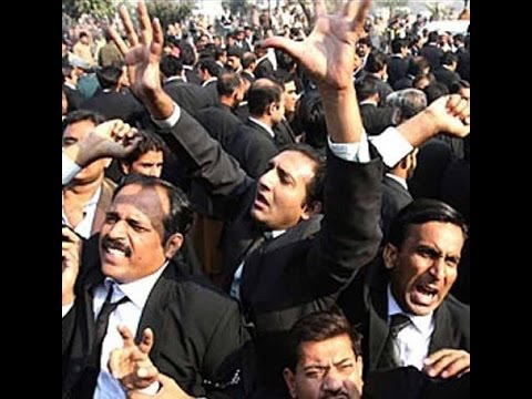 Lahore High Court Bar Association stages protest at Mall Road