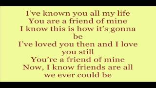 Friend Of Mine - Lea Salonga (lyrics)