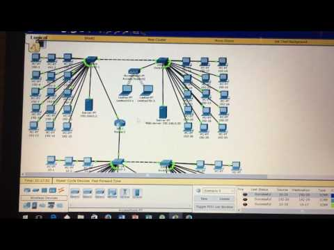Cisco Packet Tracer - Project 2 - GCSU, Dr. Bryan Marshall