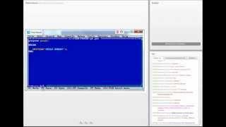 видео Компиляция программы в Turbo Pascal 7