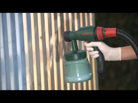 bosch pfs 65 fine spray system youtube. Black Bedroom Furniture Sets. Home Design Ideas