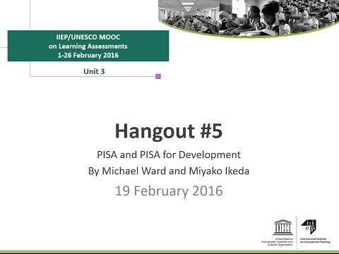 Hangout #5 - Interview with Michael Ward and Miyako Ikeda, PISA, OECD