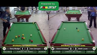 2019 CQ City v Country - Maters Zone Singles - Eight Ball - Cue Sports TV
