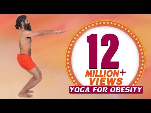 12 Easy Yoga Poses For Obesity & Weight Loss | Swami Ramdev