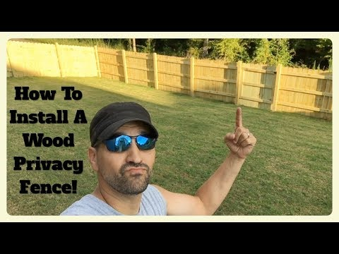 How To Build & Install A Wood Privacy Fence Yourself! WITHOUT breaking the bank!!!!