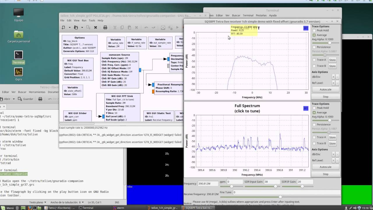 Listening to TETRA Voice with a RTL-SDR, Osmo-Tetra and