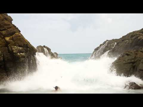 Jost van Dyke Bubbly Pool during a north swell