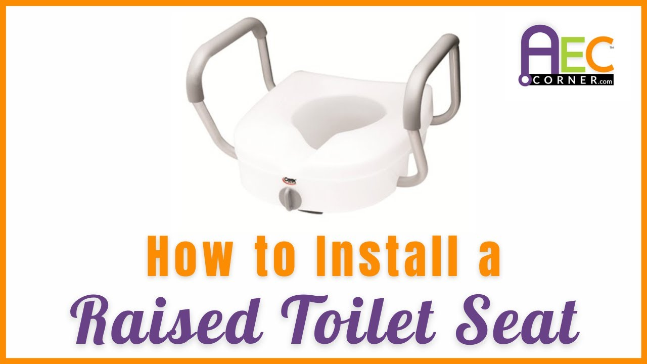 The Easiest Way to Install a Raised Toilet Seat - YouTube