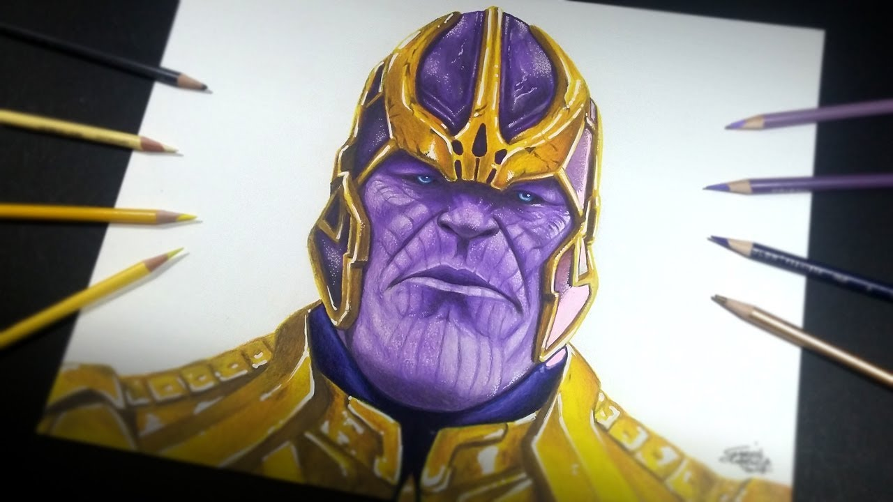 Como dibujo a thanos marvel trada art