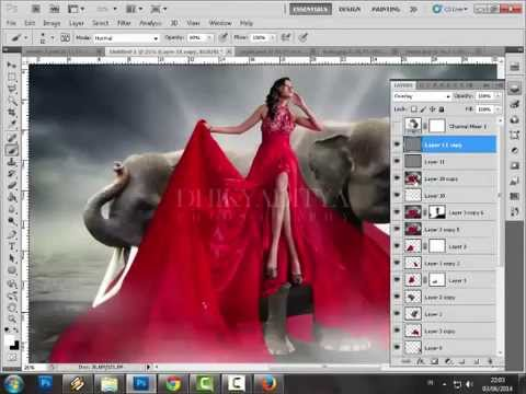 Video Tutorial Editing composite creative fashion