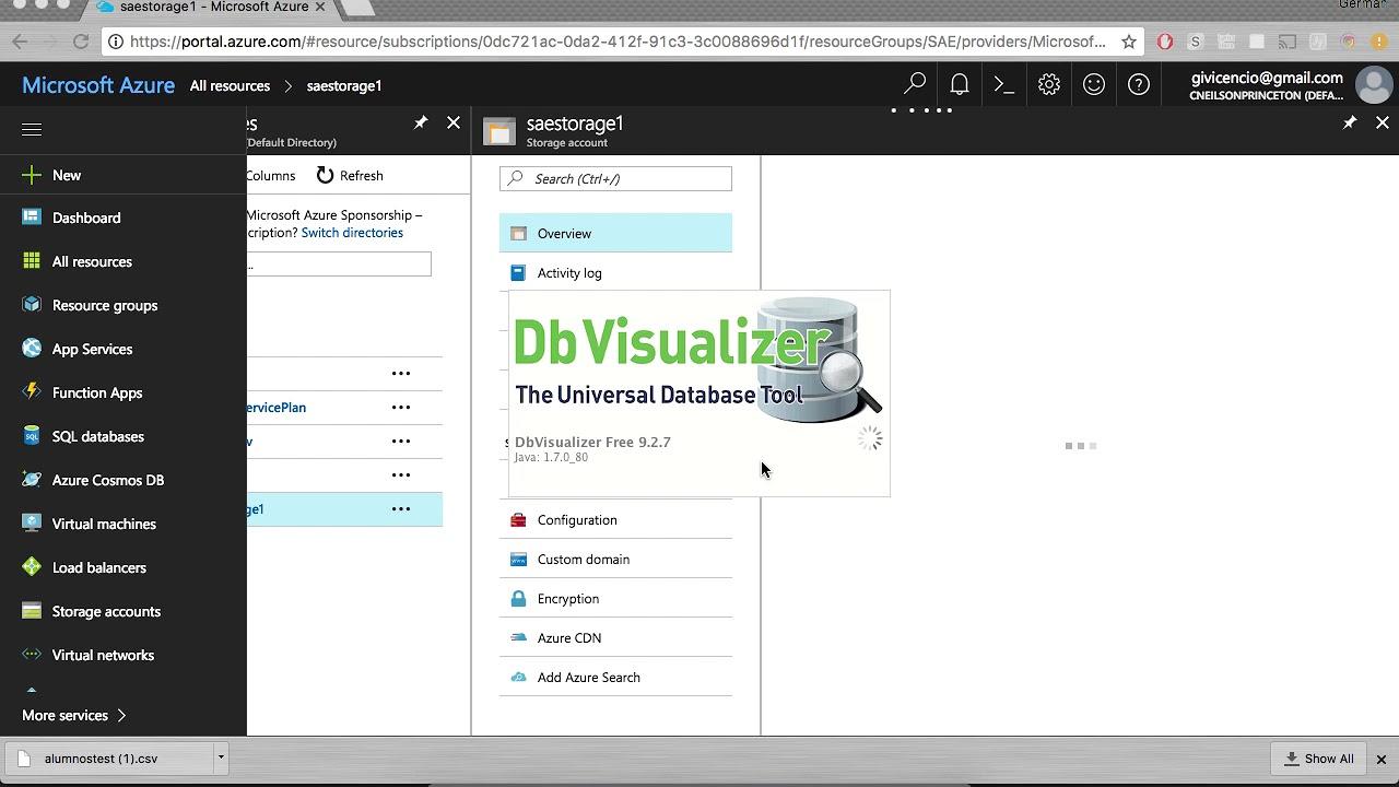 Upload large CSV to a SQL Server Database in Azure using