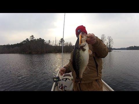 Winter bass fishing jerkbaits youtube for Bass fishing in winter