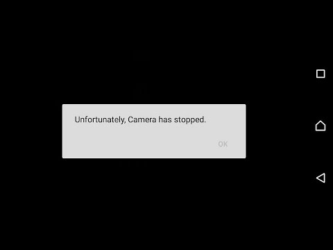 Fix Sony Xperia unfortunately, camera has stopped