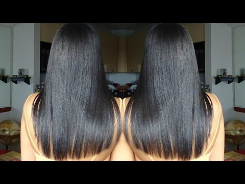 Relaxed Hair Growth Journey One Year Later (Pictures)