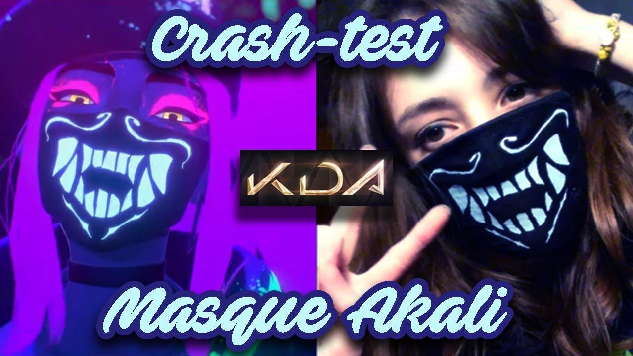 Akali K Da Masque Cosplay Crash Test Youtube