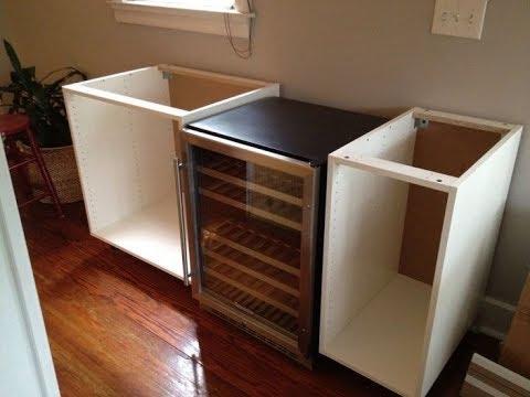 Modular Wine Fridge Cabinet - YouTube