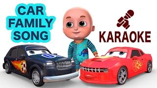 Racing Car Finger Family - Karaoke | Nursery Rhymes from Jugnu Kids