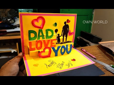 Beautiful Birthday Greeting Card Idea Diy Birthday Pop Up Card Father S Day Card Youtube