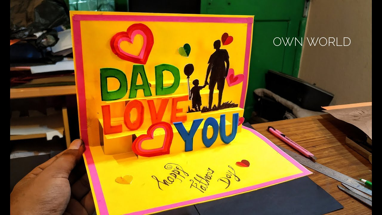Beautiful Birthday Greeting Card Idea Diy Birthday Pop Up Card Father S Day Card Youtube