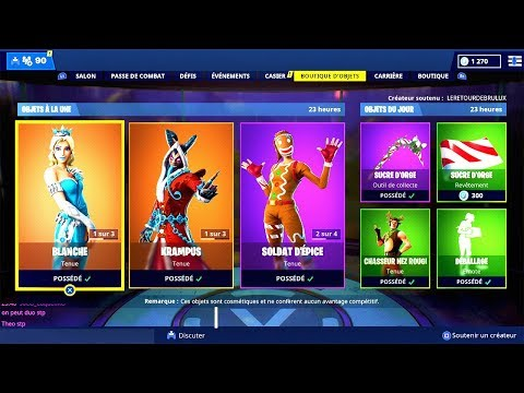 BOUTIQUE FORTNITE du 25 Décembre 2018 ! ITEM SHOP December 25 2018