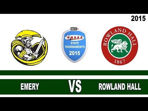 2A Emery vs Rowland Hall 2015 Utah State Softball Tournament Field 1