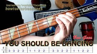 BEE GEES - You should be dancing (bass cover)   How to play
