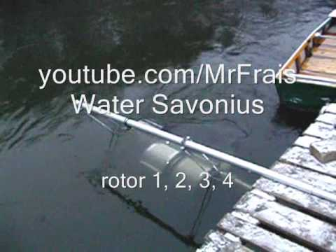 Hand Made Savonius Water Rotor 0 4 Youtube
