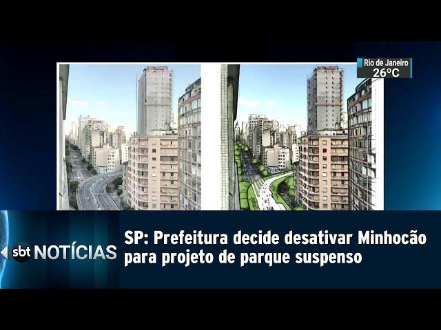 SP: Prefeitura decide desativar Minhocão para projeto de parque suspenso | SBT Notícias (22/02/2019)