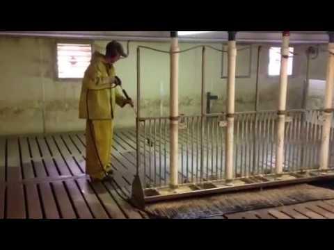 Behind The Scenes Pressure Washing Hog Barns On The Farm