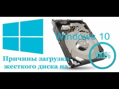 грузит диск на 100 процентов Windows 10
