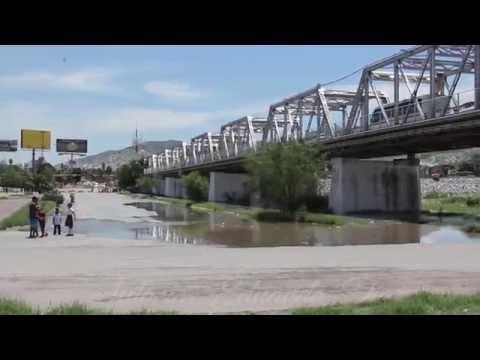 Llegada del rio Nazas al puente plateado Torreón 2016
