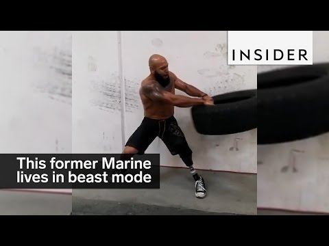 This former Marine lost his leg and now lives in beast mode