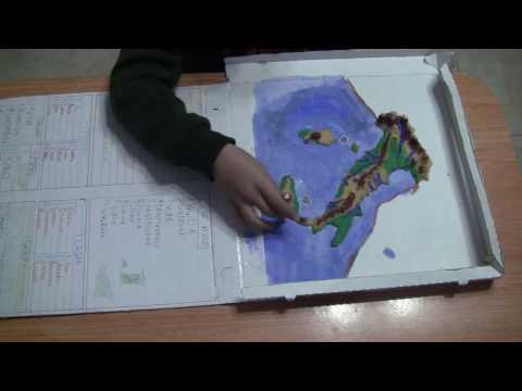 Carta geografica d'Italia in rilievo