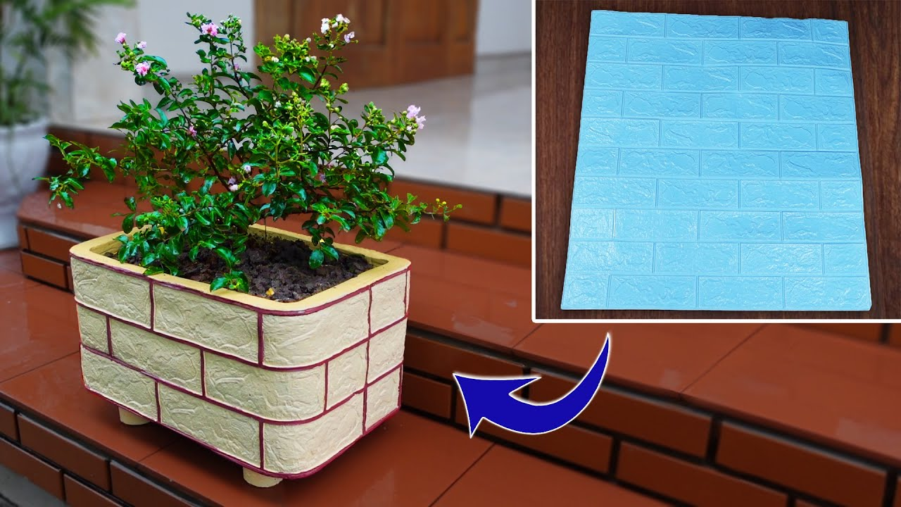 Try Making a Pot of Cement and Porous Wall Tiles - Beautiful and Easy