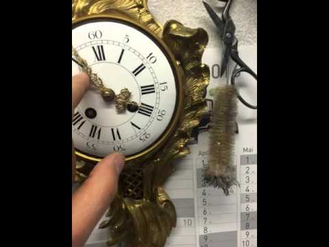 Antique Clock- Wanduhr Samuel Marti-France