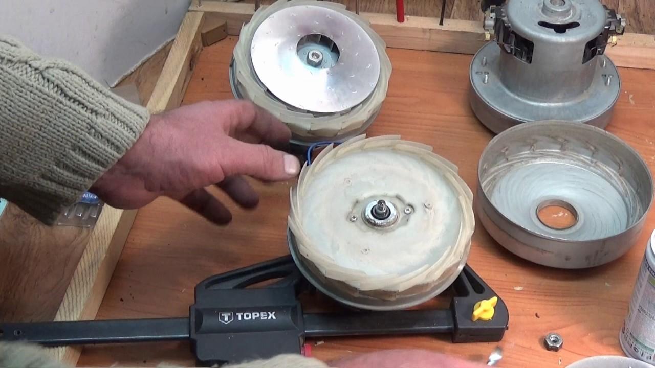 Как разобрать двигатель пылесоса
