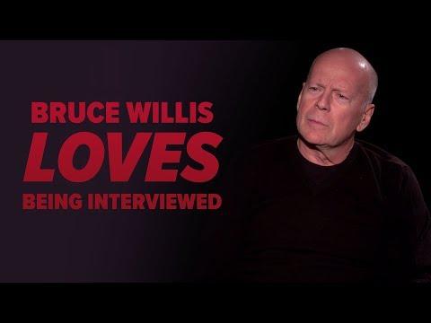 Bruce Willis Loves Being Interviewed