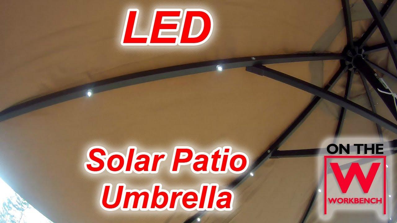 LED Solar Umbrella