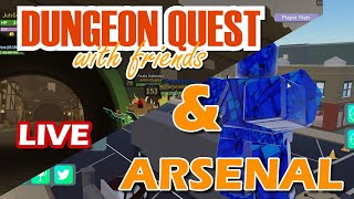 Juls debut to streaming pt.3   Playing ROBLOX Arsenal and Dungeon Quest
