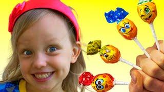 Daddy Finger Family Song #2 | Alex dan Nastya Bermain dengan permen | Lagu Anak-Anak Video Edukasi