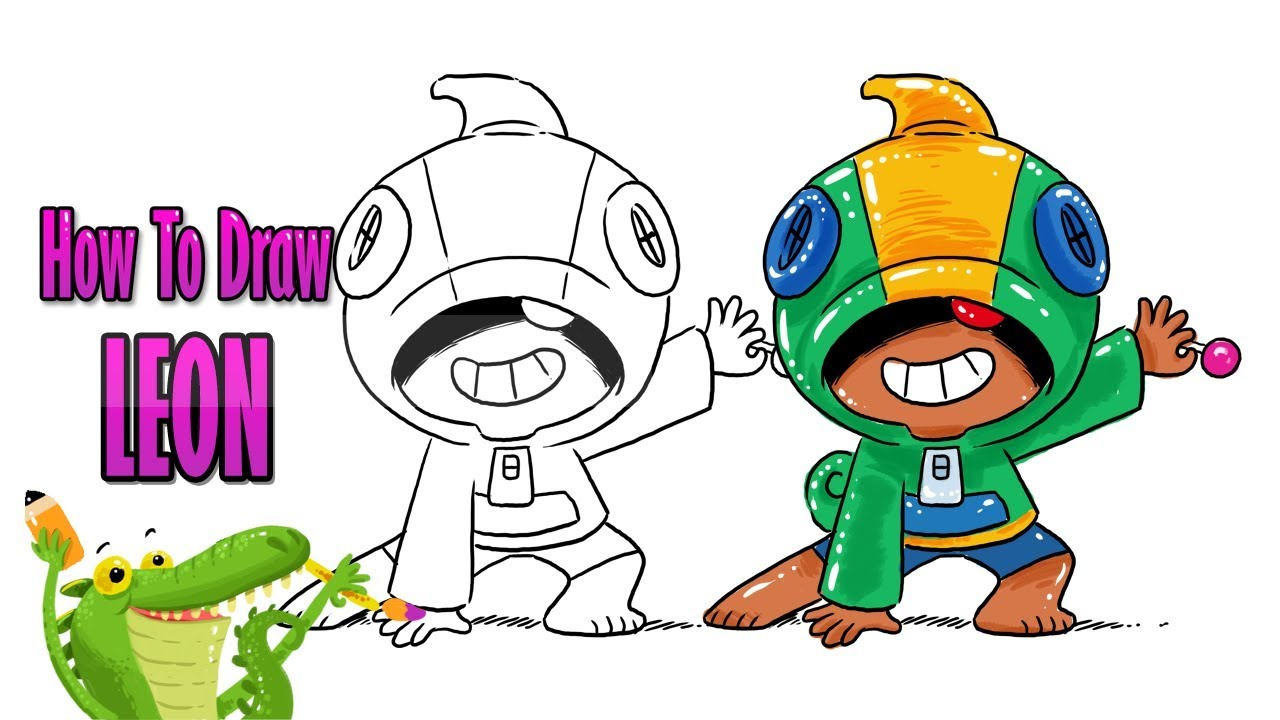 How To Draw and Coloring Leon Brawl Stars easy step by